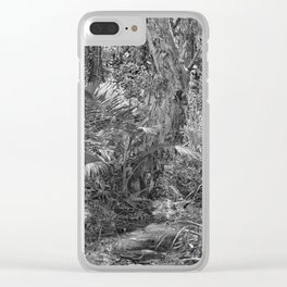 Rain forest view with creek Clear iPhone Case