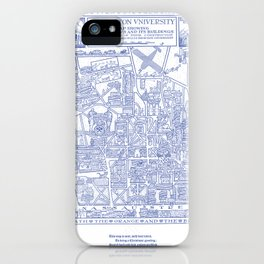 PRINCETON university map NEW JERSEY dorm decor iPhone Case