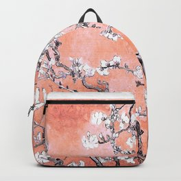Van Gogh Almond Blossoms : Deep Peach Backpack