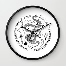 Snake in Chains Wall Clock