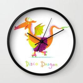 Disco Dragon Wall Clock