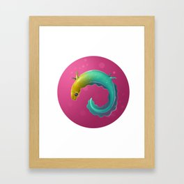 Multicolor Newt Framed Art Print