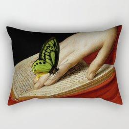 Gentle Reader Cropped Art Rectangular Pillow