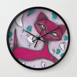 Bonnie Cat Wall Clock