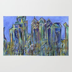 Blue Philadelphia Skyline Rug