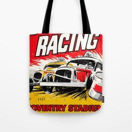 Coventry Stock Car Racing Poster Tote Bag