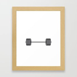 Birthday Celebration Party Gift Beast Are Born In January Birth Anniversary Gym Barbells Framed Art Print