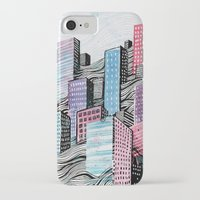 iPhone Cases featuring Melted City by Becksey