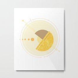 Geometric Planets in Orbit Metal Print