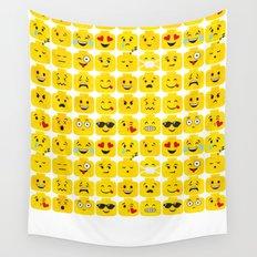 Emoji-Minifigure Wall Tapestry