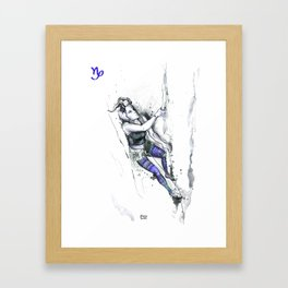 Cool Capricorn Framed Art Print