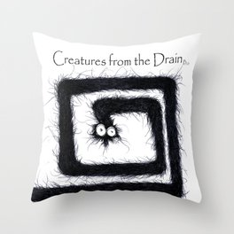 The creatures from the drain 13 Throw Pillow