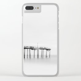 Frisco Pier (B&W) Clear iPhone Case