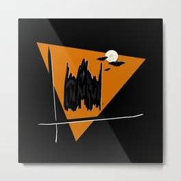 Haunted Castle - Halloween Collection Metal Print