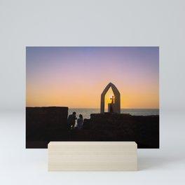 Sunset for two Mini Art Print
