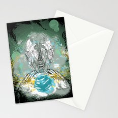 spatial golem Stationery Cards