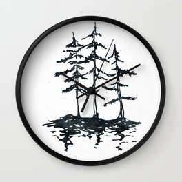 THE THREE SISTERS Black and White Wall Clock