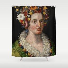 "Giuseppe Arcimboldo ""Flora"" Shower Curtain"