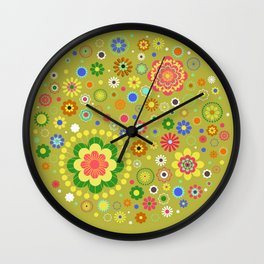 Floral Oliva Pattern Wall Clock