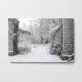 Gate to Winterland Metal Print