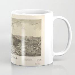 Aerial View of Johnsonville, New York (1887) Coffee Mug