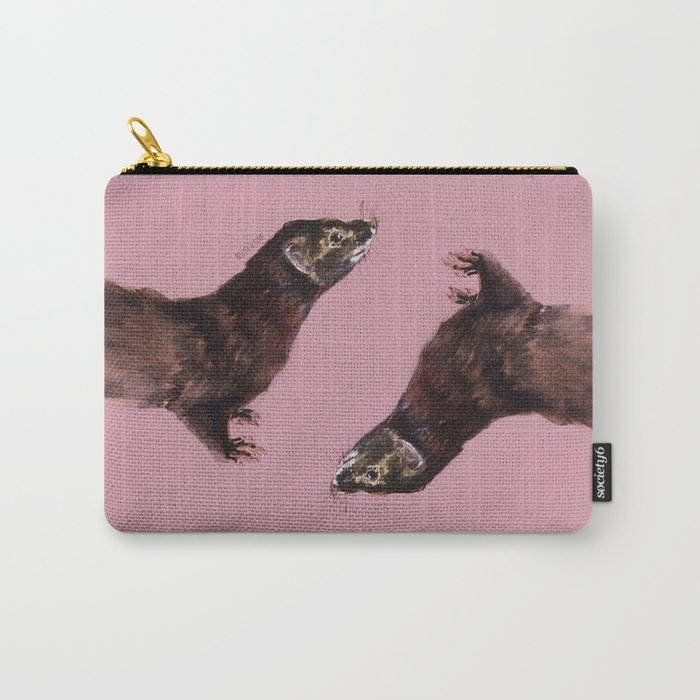 Save the european Mink !!! (FIEB) Realistic (c) 2017 Carry-All Pouch