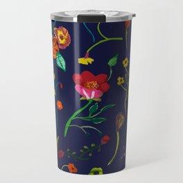 Floral love I pattern Travel Mug