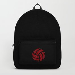Red Volleyball Wordcloud - Gift Backpack