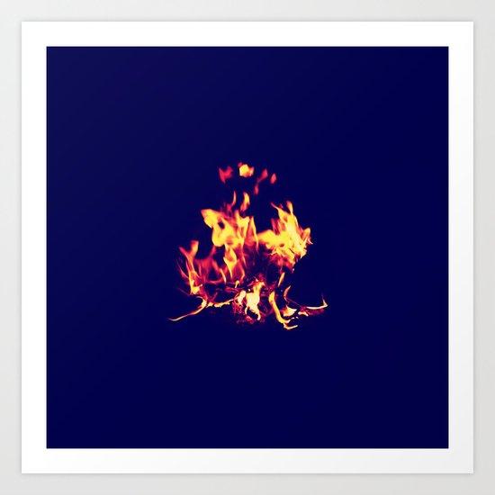 Blue Fire Art Print