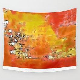 Orange Burst Wall Tapestry