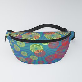 Psychodelic Spirals colorful Fanny Pack