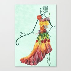 Female Floral Canvas Print