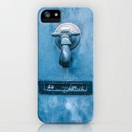 Blue Doorknocker iPhone Case