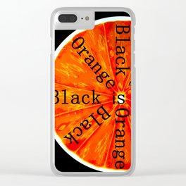 Black is Orange Clear iPhone Case