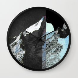 Twin peaks_ charcoal Wall Clock