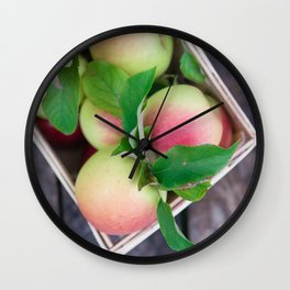 Apples for Pie Wall Clock