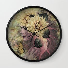 BREEZE BLOWING WITH FRAGRANCE Wall Clock