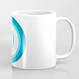 Blue letter D Coffee Mug