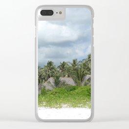 Zanzibar huts Clear iPhone Case