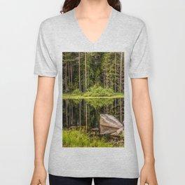 Quiet Forest lake Unisex V-Neck