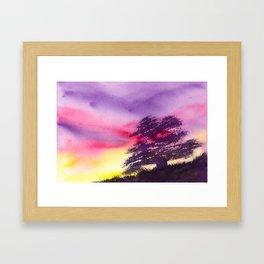 Burst of Twilight Framed Art Print