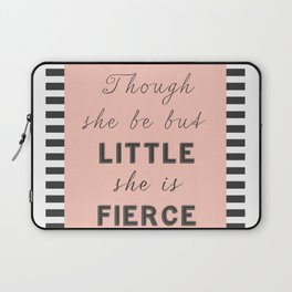 Female Inspirational Fierce Quote Laptop Sleeve