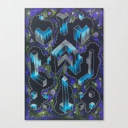 Cloud Symmetry Canvas Print