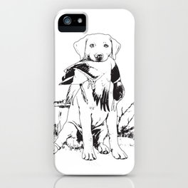 Young Hunting Labrador iPhone Case