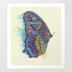 Butterfly Life Cycle Art Print