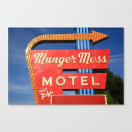 Route 66 - Munger Moss Motel 2010 Canvas Print