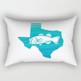 Texas Wave Fishing Rectangular Pillow