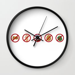 Food Allergy Pyramid Wall Clock