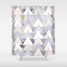 Pastel Graphic Winter Peaks on Geometry #abstractart Shower Curtain