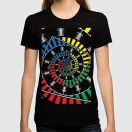 Spinning Disc Golf Baskets T-shirt